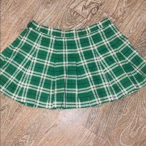 Blue asphalt green plaid mini skirt size 3 small